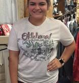 Lucky Bird Clothing Co. RoadMap Oklahoma on oatmeal
