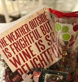 Golden Crown (in house creations) Wine is Delightful Gift Basket
