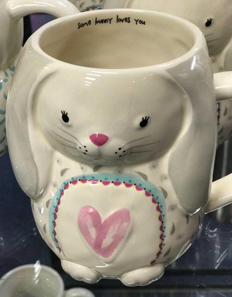 Natural Life Mug - Some Bunny Loves You Bunny Folk Art