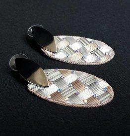 PRUDENCE C - Jewelry Designs Earrings - Crystal Beads Silver Base Metal