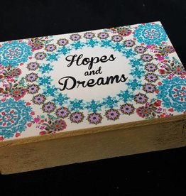 Wooden Prayer Box - Hopes and Dreams