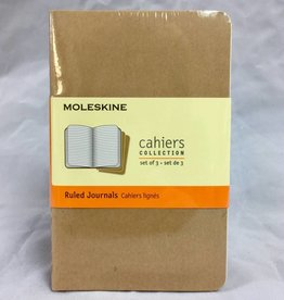 HACHETE Moleskin Small Cahier S/3 Ruled Natural