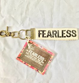 Natural Life Fearless Canvas Key Fob