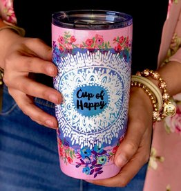 "Natural Life ""Cup of Happy"" Double Walled Tumbler"