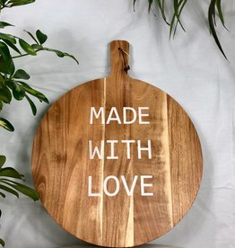 "Bloomingville Acacia Wood ""Made With Love"" Tray/Cutting Board"