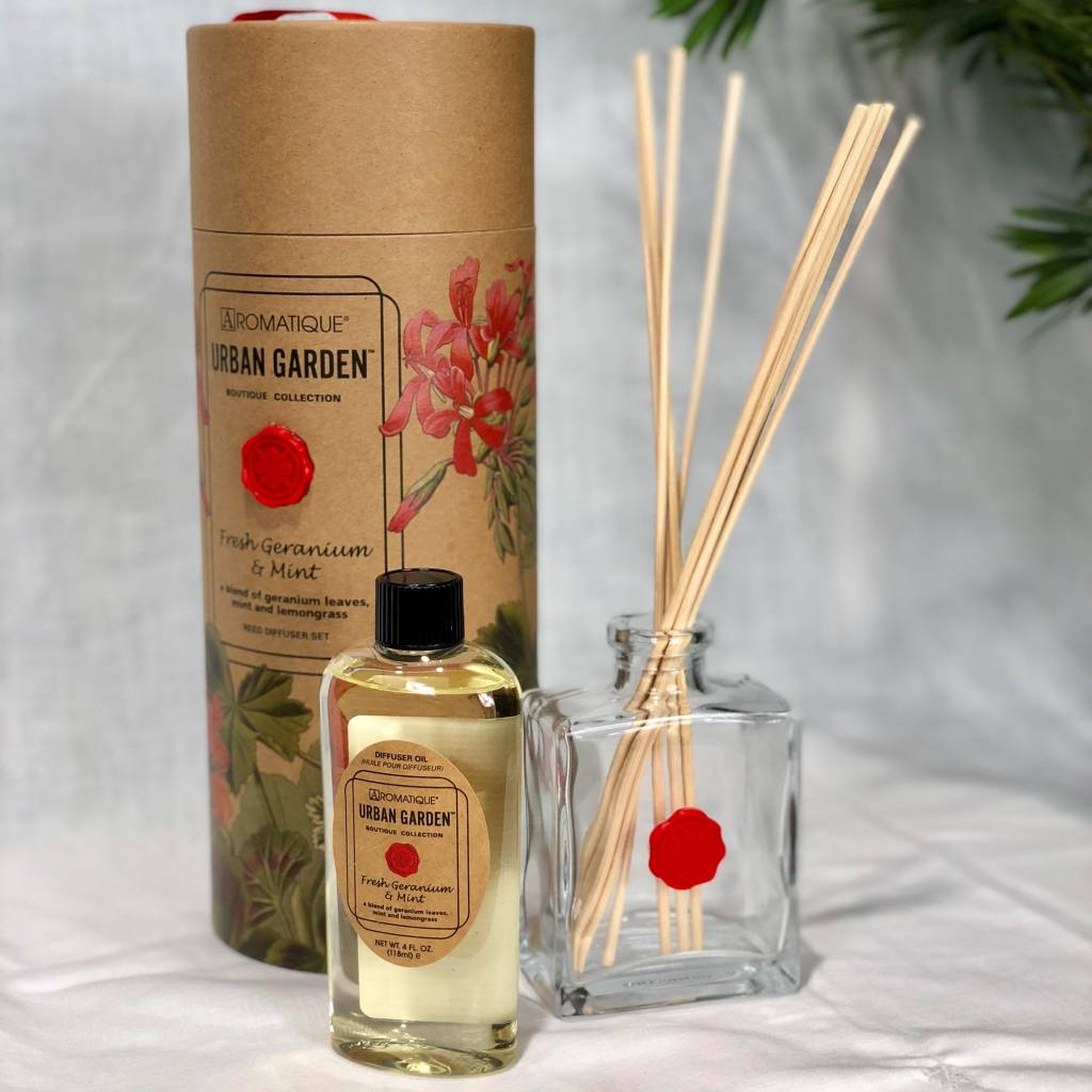 Aromatique Fresh Geranium & Mint Diffuser set
