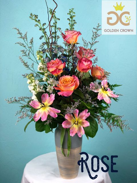 Golden Crown (in house creations) Rose