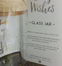 Gratitude Glass Jar Baby Wishes Glass Jar