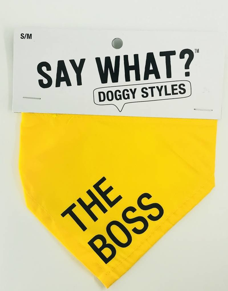 About Face Designs The Boss Small Bandana
