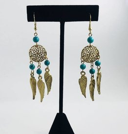KurtMen Dream Catcher Turquoise Earrings