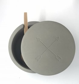 Now Designs Salt Cellar Concrete Arrows
