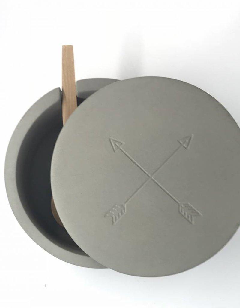 Now Designs Salt Cellar Concrete Arrows