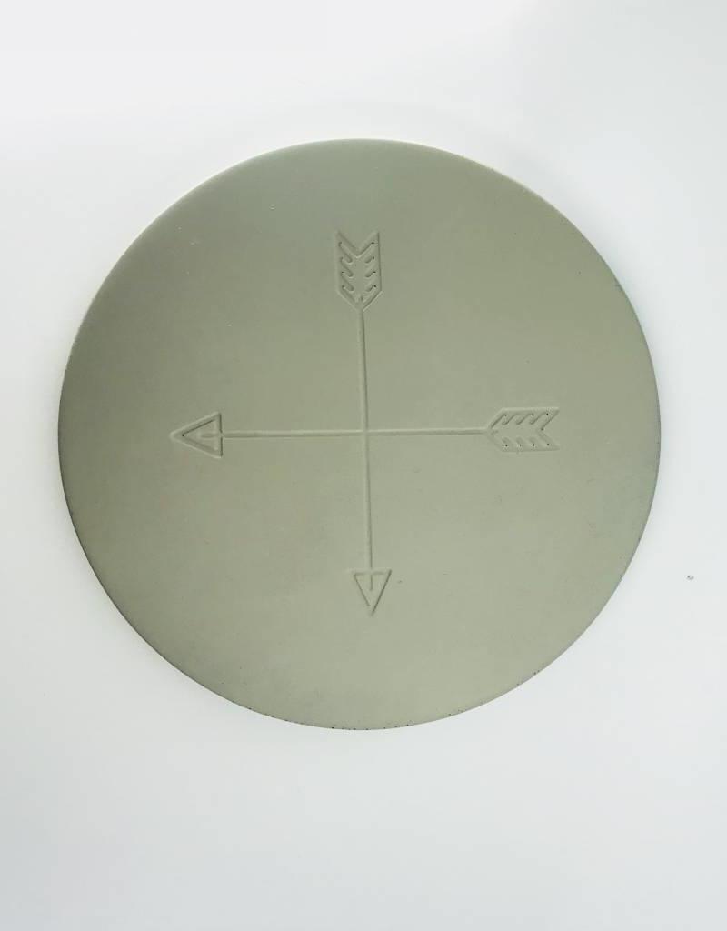 Now Designs Trivet Concrete Arrows