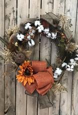 Golden Crown Fall Wreath