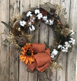Golden Crown Fall Wreath
