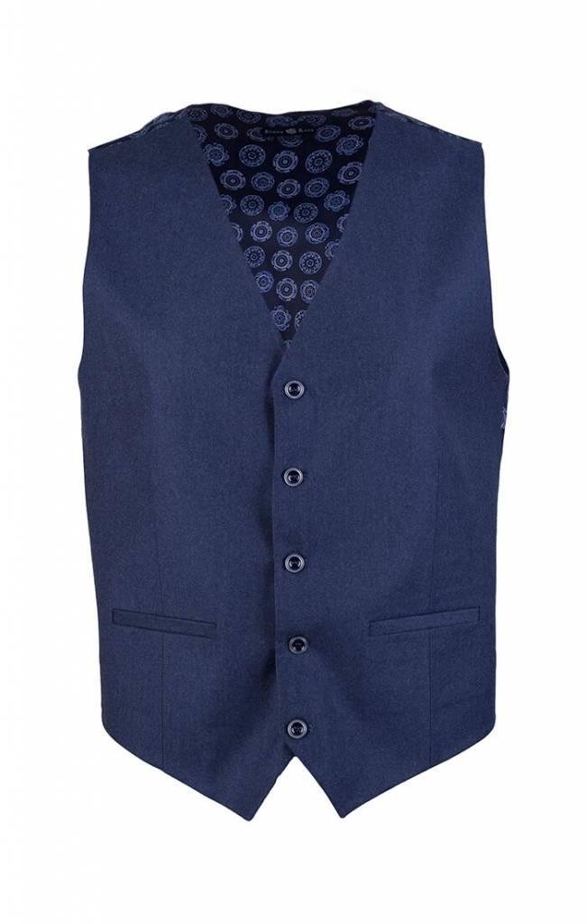 Stone Rose Stone Rose-Solid Vest W/ Cirlce Design Lining