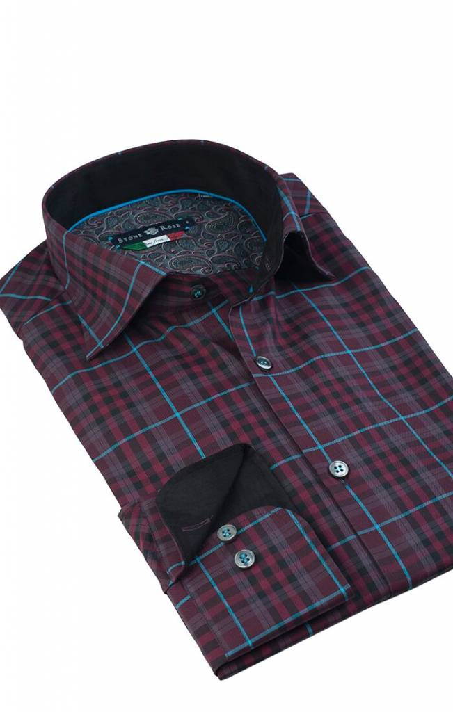 Stone Rose Stone Rose Plaid Dress Shirt GLA 6203