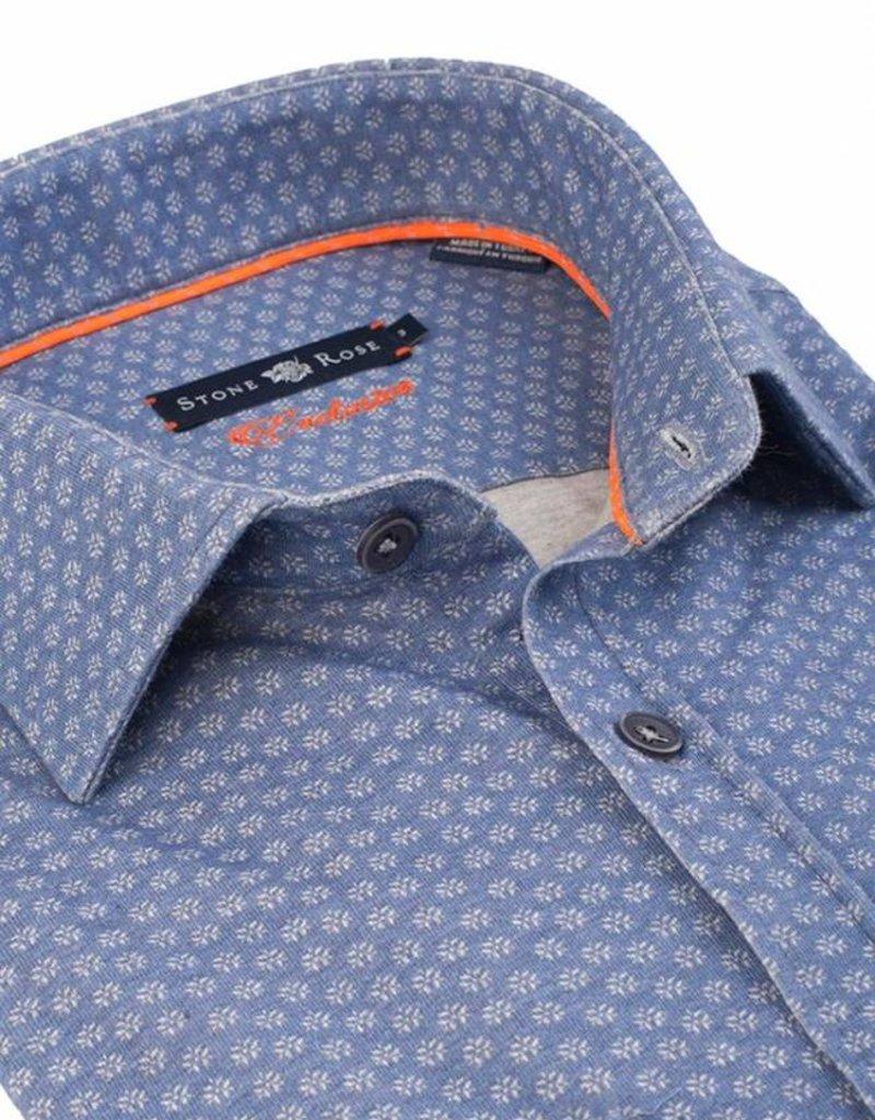 Stone Rose Stone Rose Geometric Jersey Dress Shirt SYD 6249