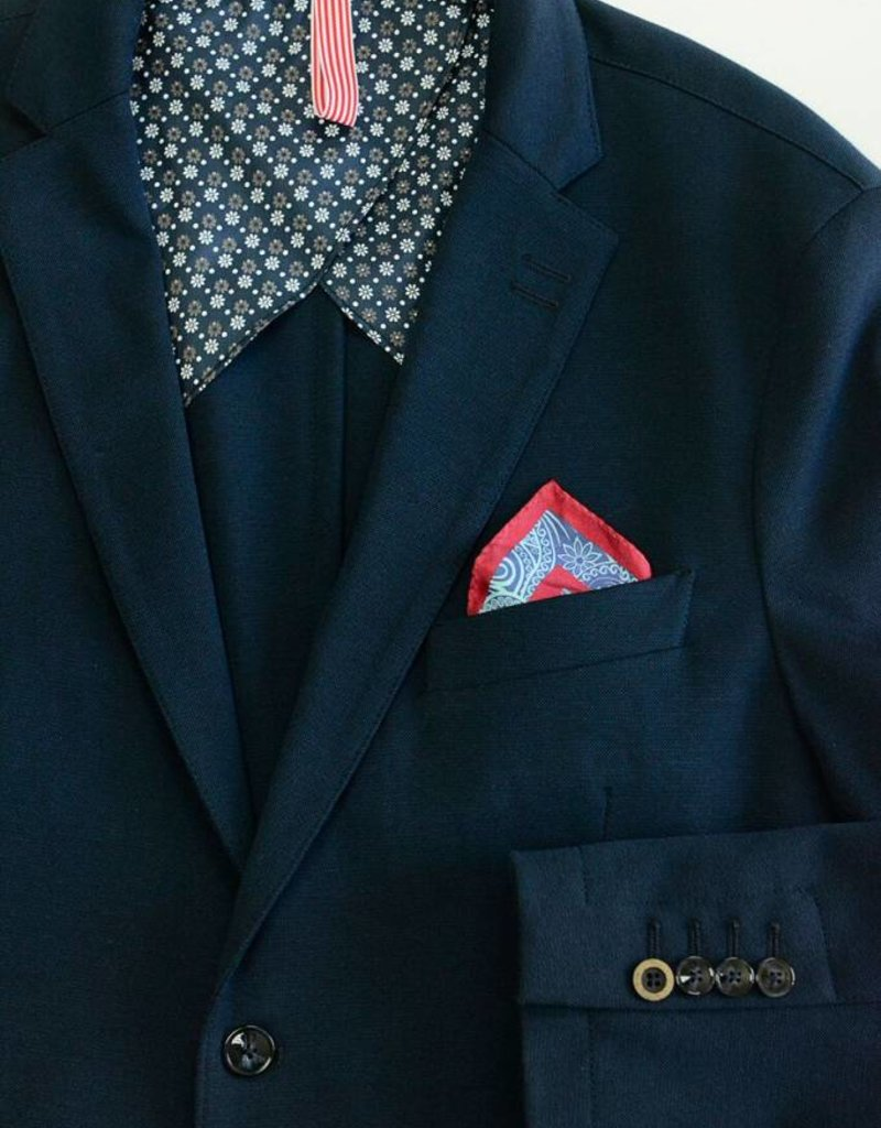 Stone Rose Stone Rose- Knit Flower Half Lined Sports Coat