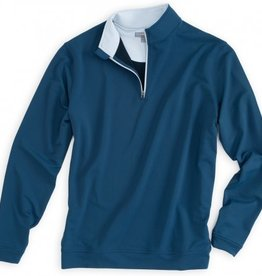 Peter Millar Peter Millar Perth Stretch Loop Terry 1/4 Zip Midnight