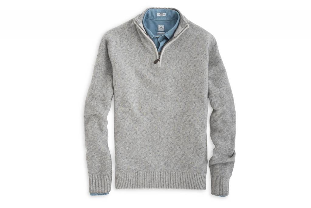 Peter Millar Peter Millar-Mountainside Wool Cashmere Quarter Zip Sweater