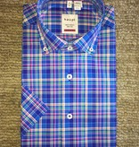 Haupt Haupt-S/S Bright Blue Multi Plaid