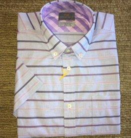 Thomas Dean-Purple Cotton Stripe