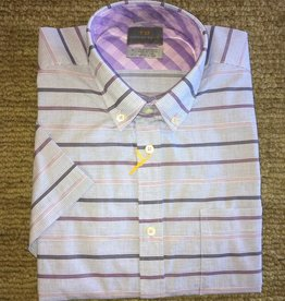 Thomas Dean Thomas Dean-Purple Cotton Stripe