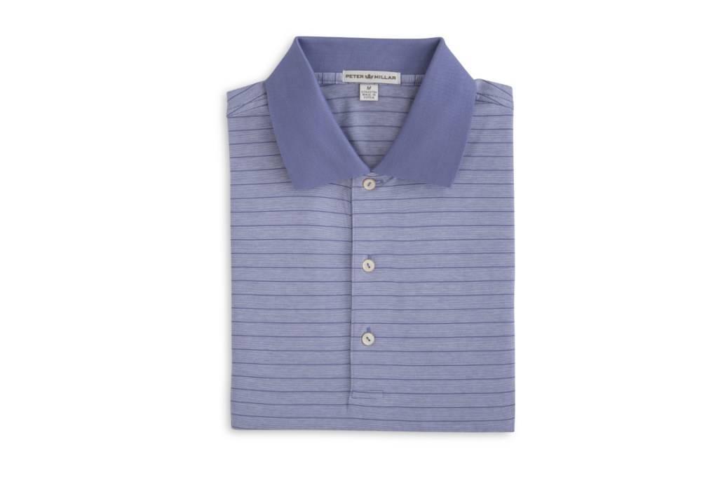 Peter Millar Peter Millar-Jordan Stripe Cotton Lisle (Knit Collar)