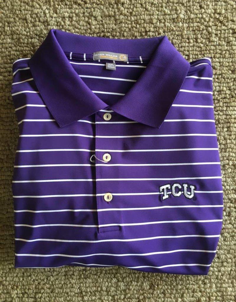 Peter Millar Peter Millar E4 Campus Stripe Knit Polo TCU