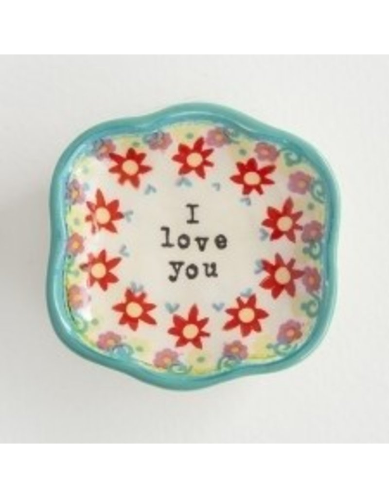 natural life natural life i love you mini dish