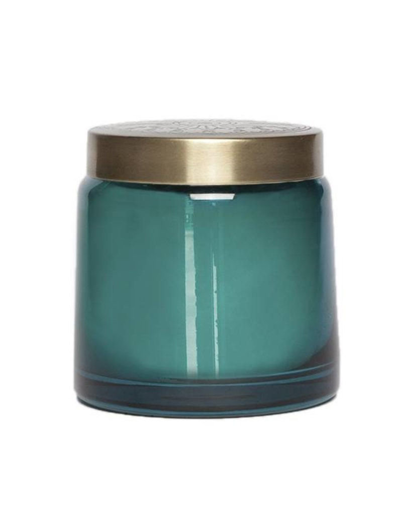 aspen bay tinted glass jar teal sugared citron