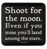 quotable shoot for the moon dish