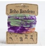 natural life natural life orange, purple & green tie dye boho bandeau