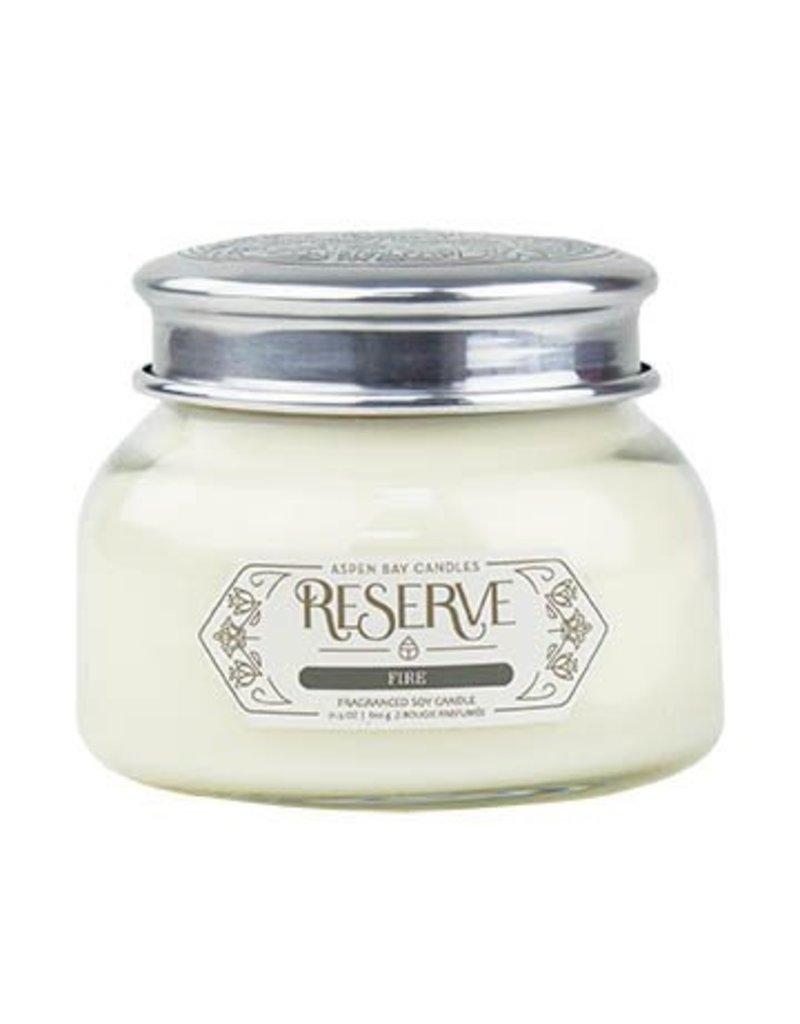 aspen bay candles reserve signature jar fire