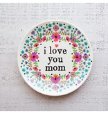 natural life natural life love you mom mini melamine plate