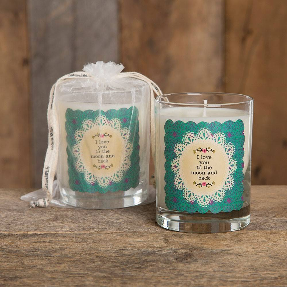 natural life natural life love you to the moon soy candle jasmine honeysuckle