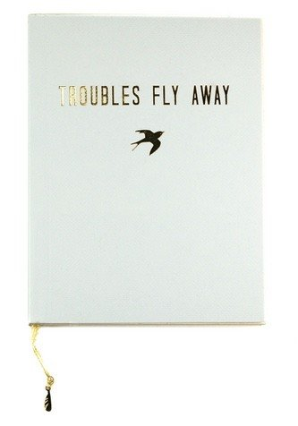 lucky feather troubles fly away journal