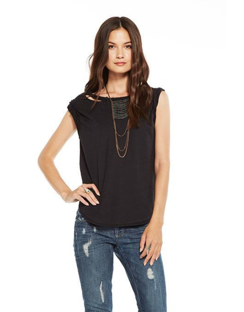 chaser chaser deconstructed rolled muscle tee