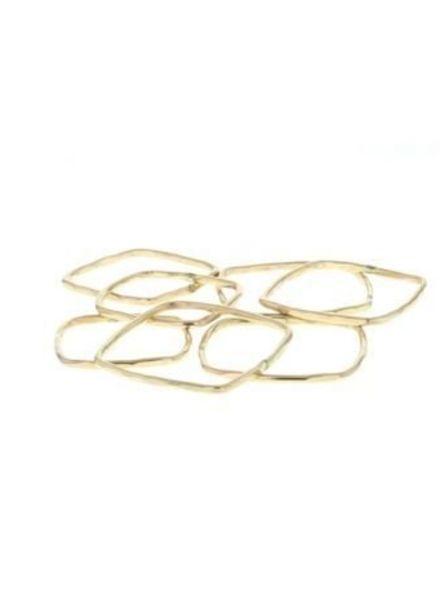 lotus jewelry studio square stacking ring gold
