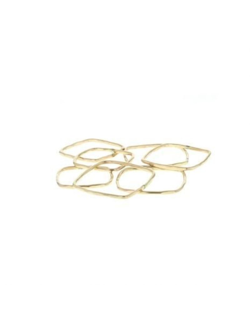 lotus square stacking ring gold