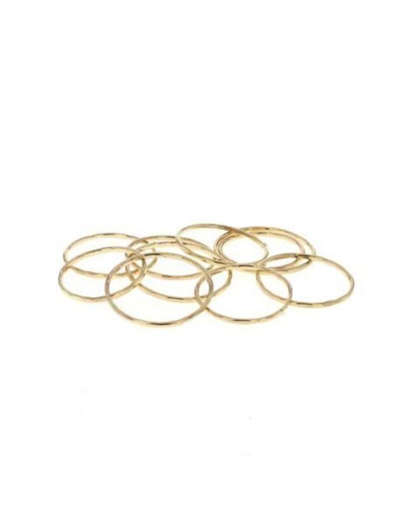 lotus stacking ring gold