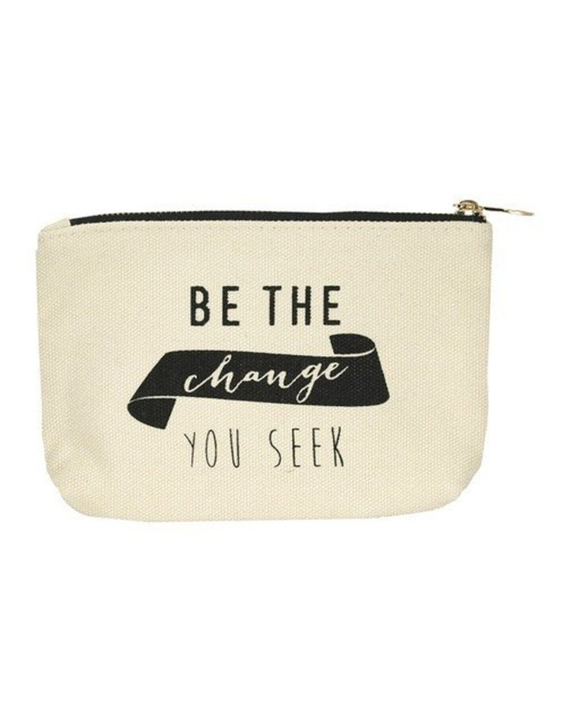 lucky feather lucky feather change canvas pouch