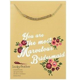 cherishing stone bridesmaid necklace
