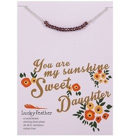 lucky feather cherishing stone daughter necklace