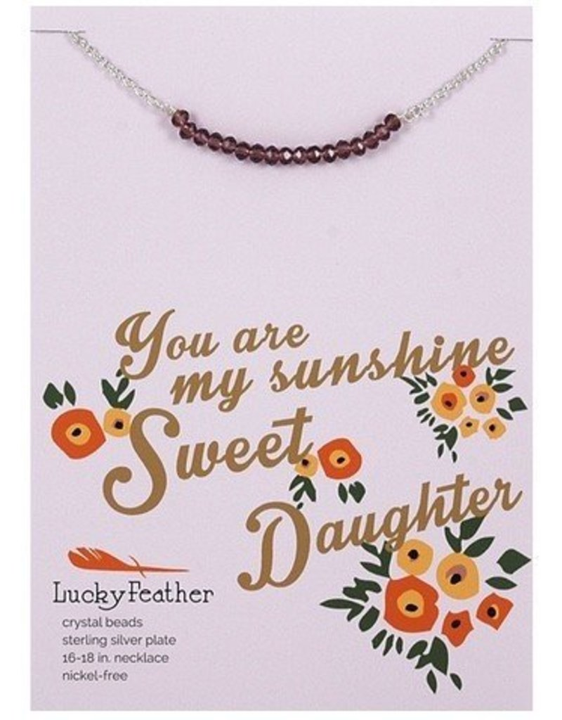 lucky feather lucky feather cherishing stone daughter necklace