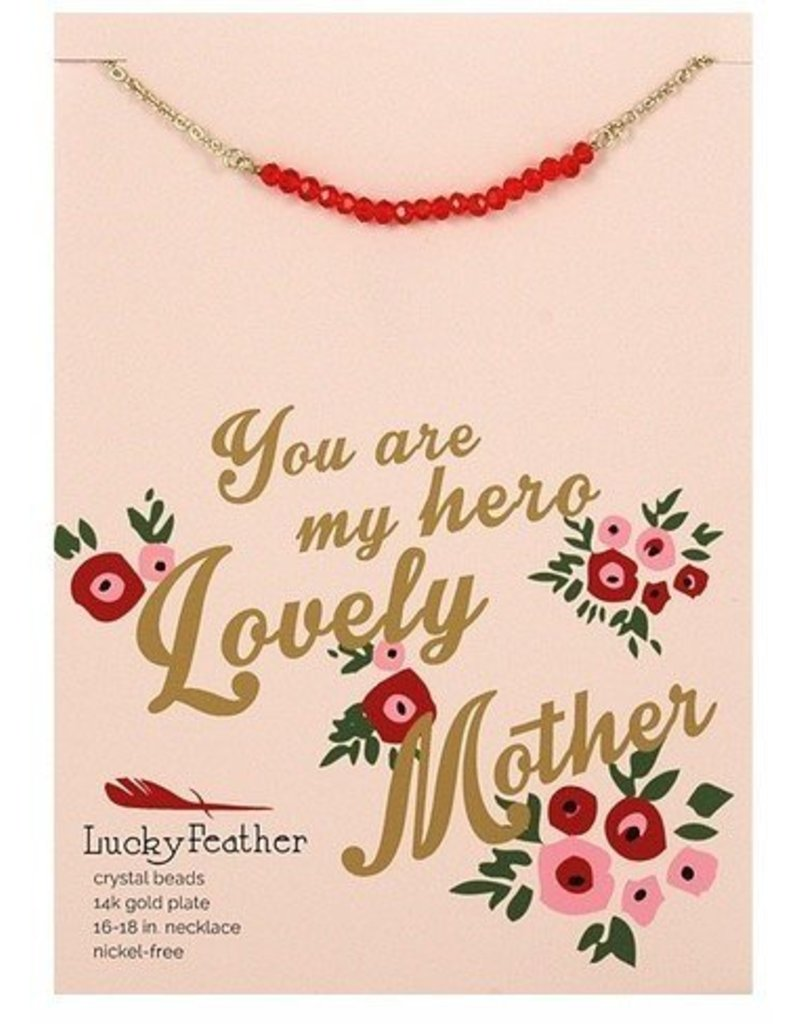 lucky feather lucky feather cherishing stone mother necklace
