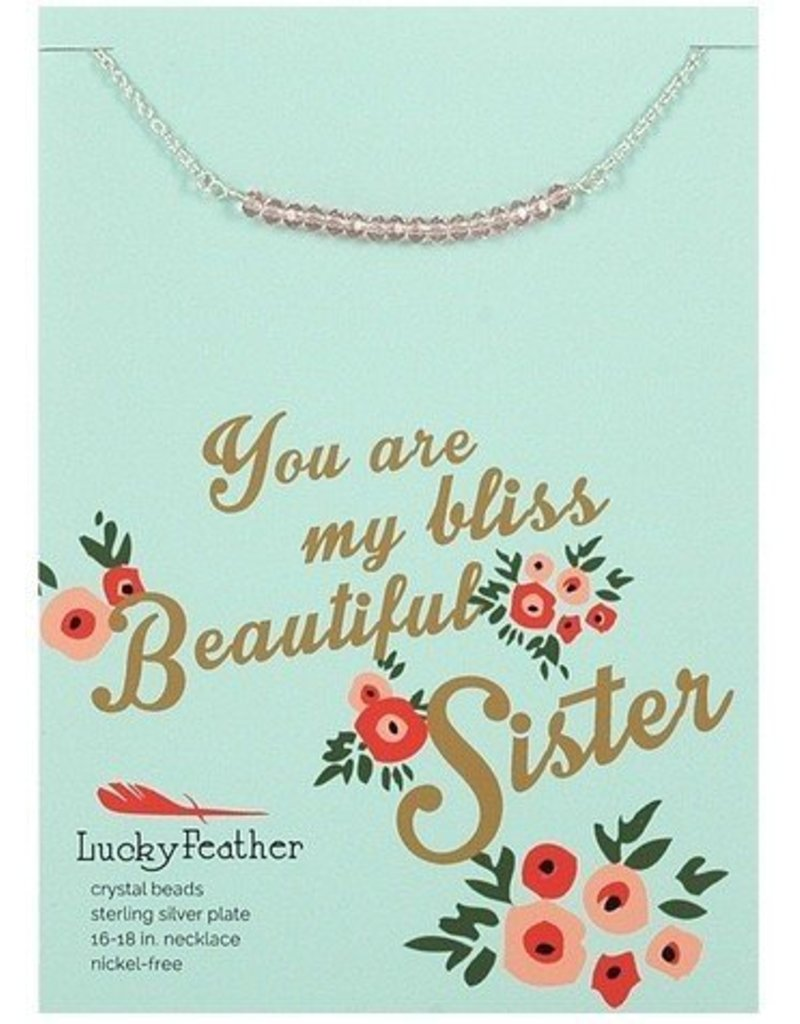 lucky feather lucky feather cherishing stone sister necklace