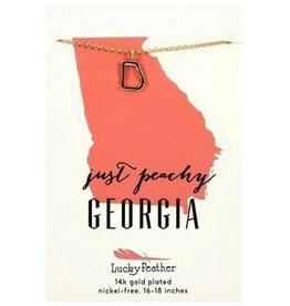 lucky feather georgia necklace