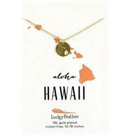 lucky feather hawaii necklace